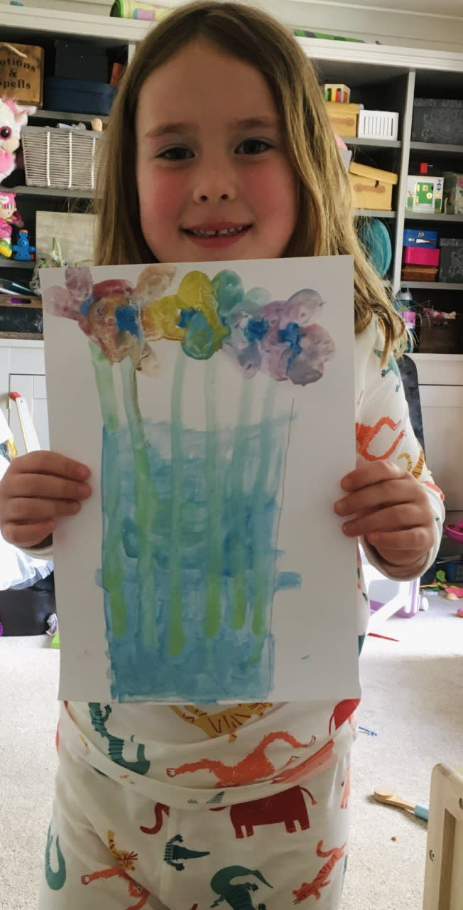 Jess Bowden, age 6 Inspired by Picasso's Bouquet of Peace