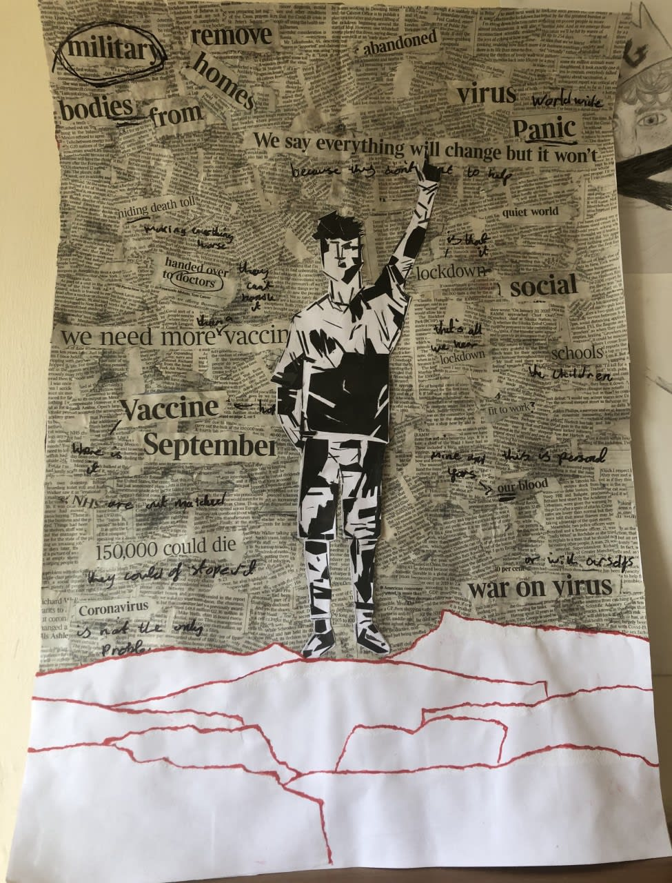 Kimberley Daniels, age 13 Inspired by Banksy