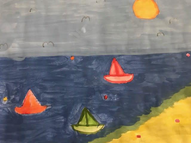 Isla Stevenson, age 9 Inspired by Huw Richards Evans