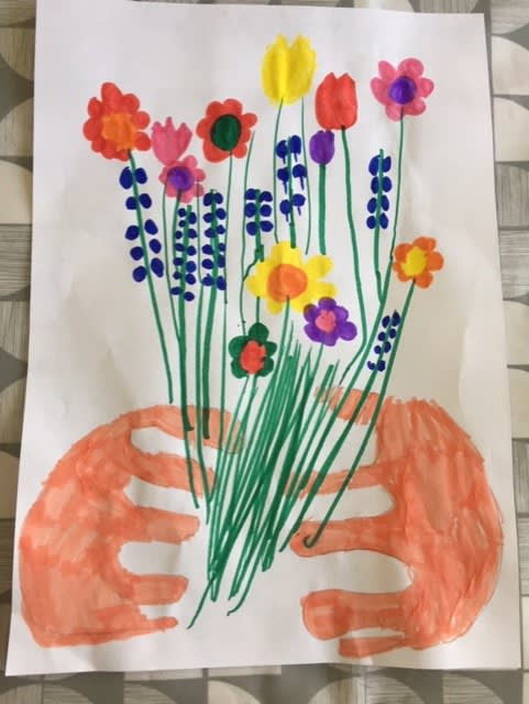 Ella Dent, age 5 Inspired by Picasso's Bouquet of Peace