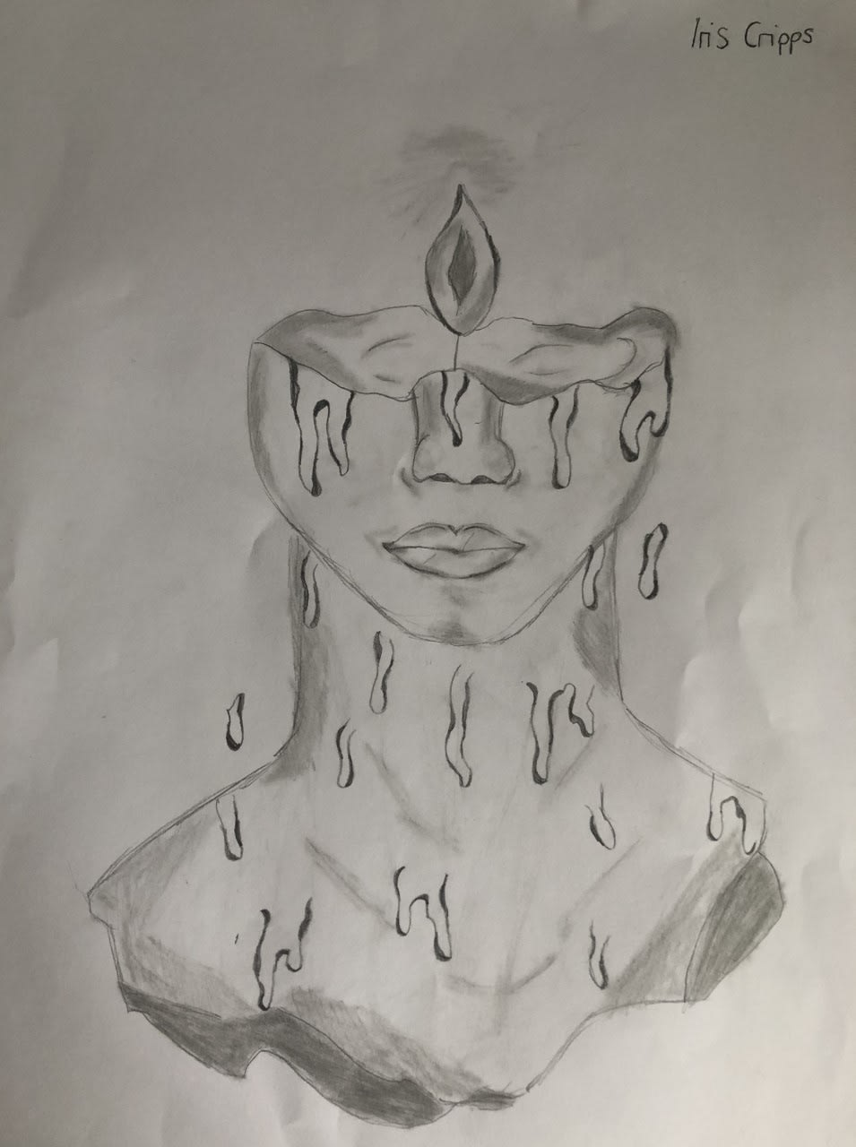 Iris Cripps, age 12 Inspired by all the artwork