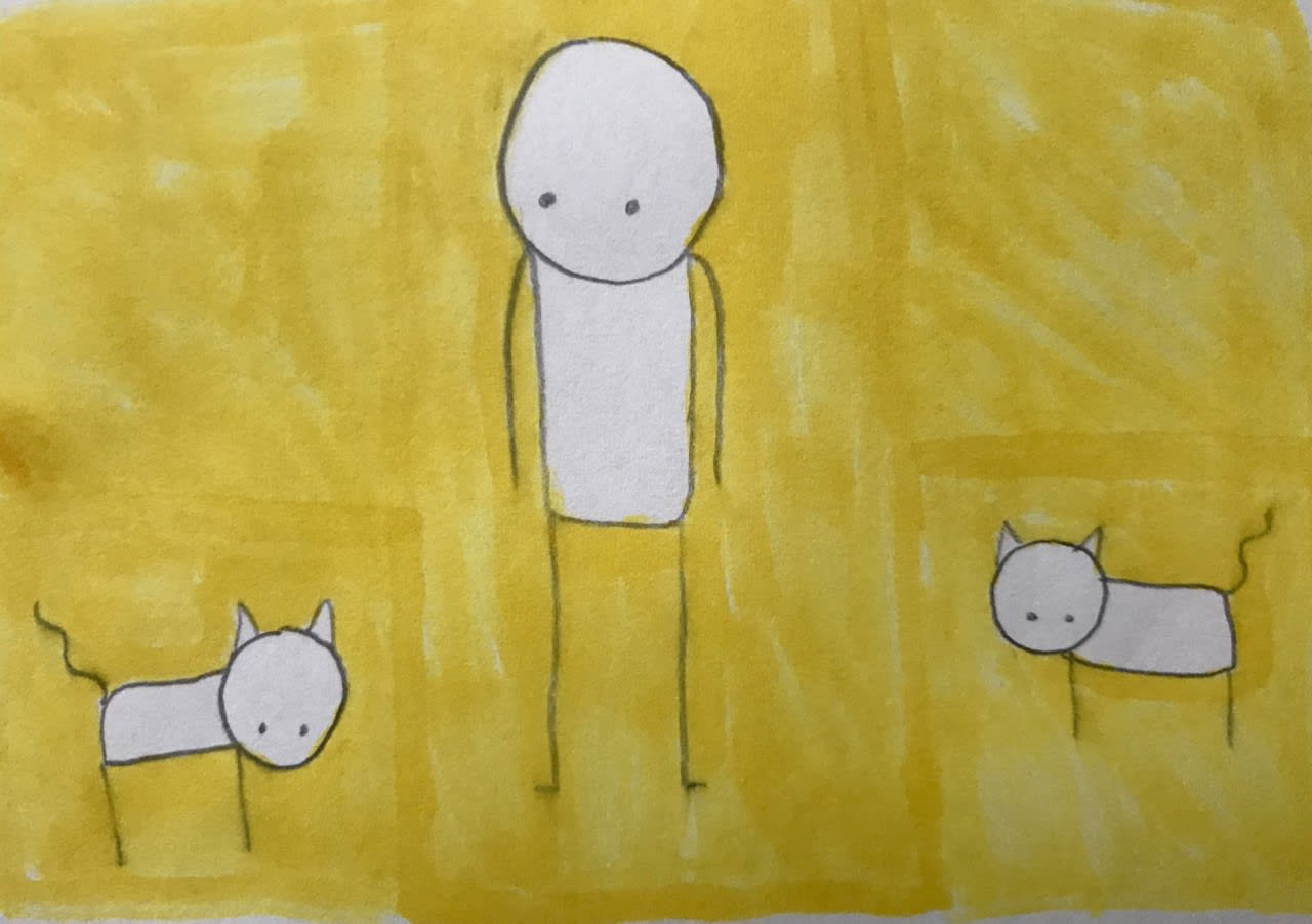McKinley Very, age 10. Inspired by Stik.
