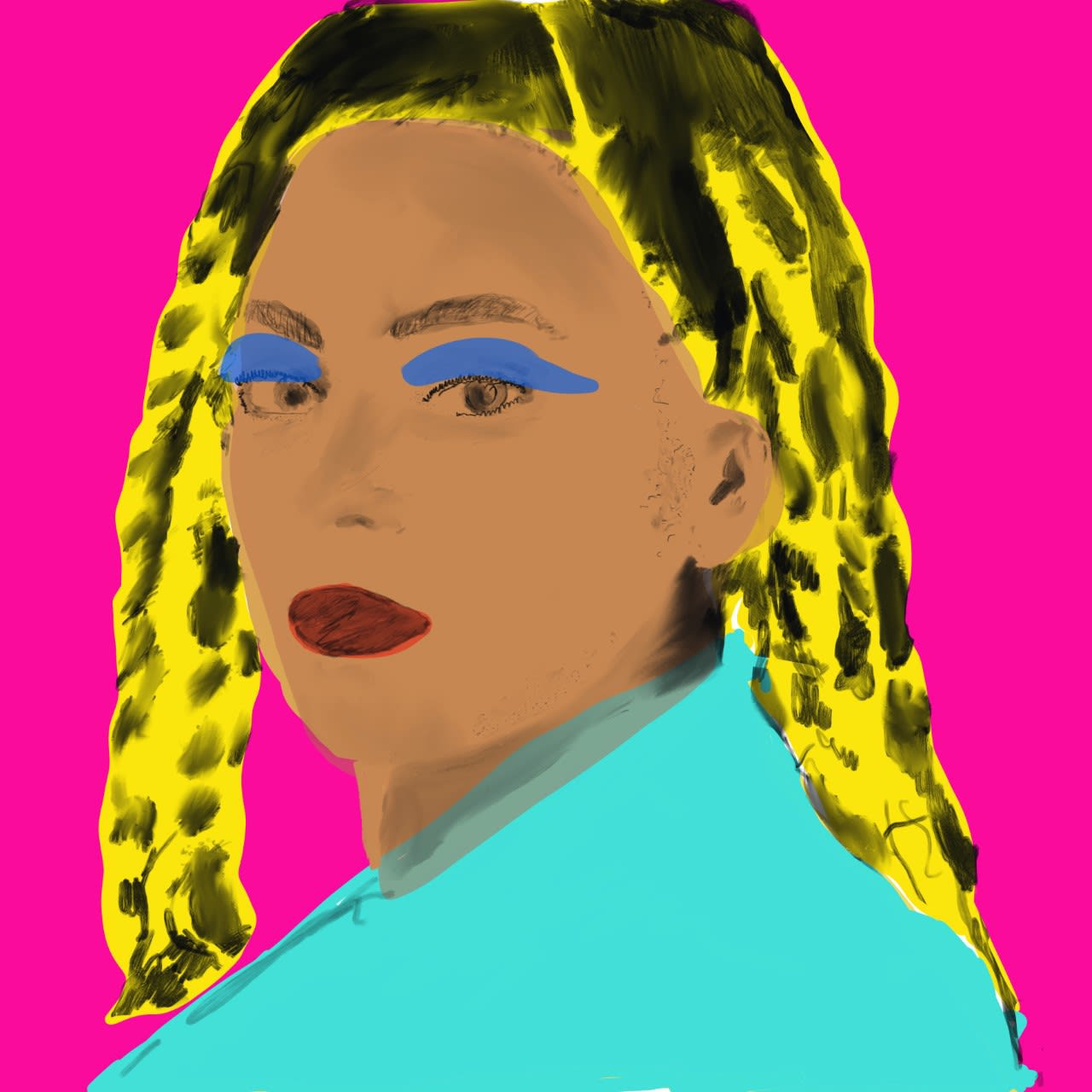 Ottilie Peppé. age11 Beyonce, inspired by Andy Warhol
