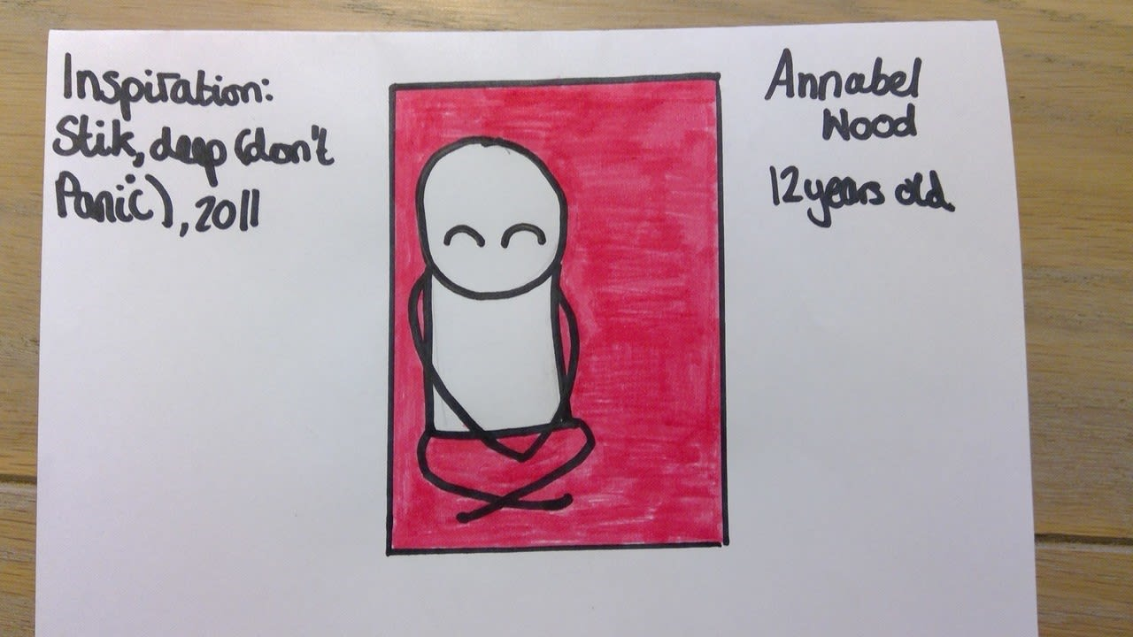 Annabel Wood, aged 12 Inspired by Stik, deep (don't panic)