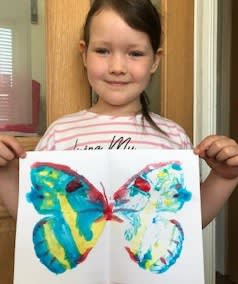 Georgie, age 6 Inspired by Damien Hirst's 'The Souls'