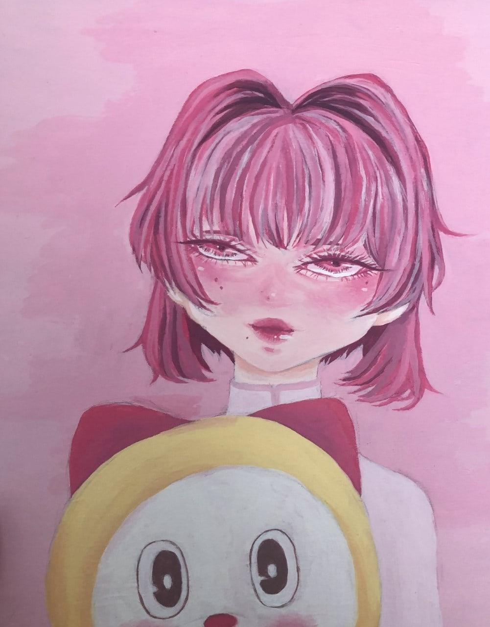 Katie Dennis, age 16 Inspired by Yoshitomo Nara
