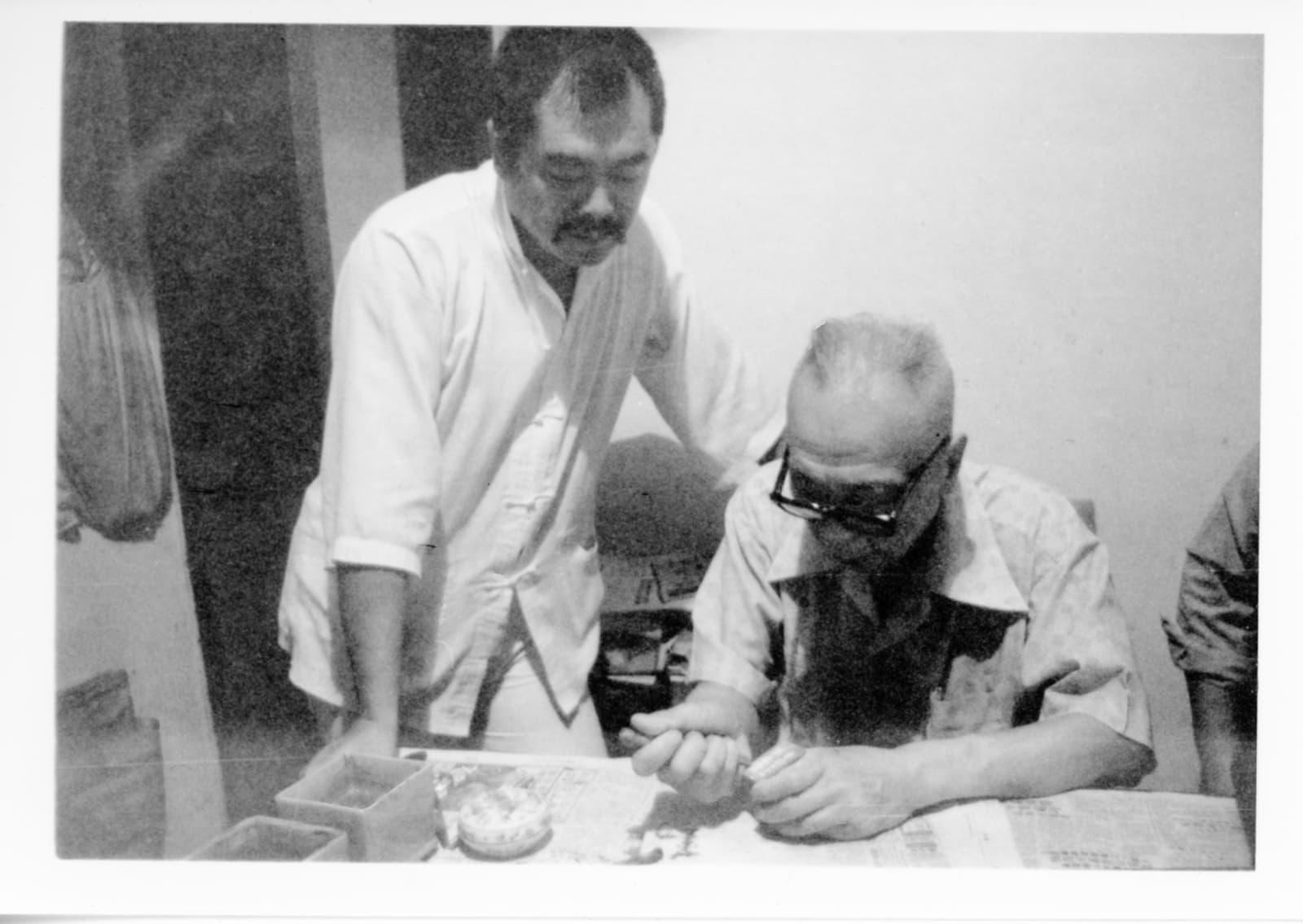 Oct 1978, taken in Ting Yung-yin's place in Hong Kong 1978年10月攝於丁衍庸香港家中
