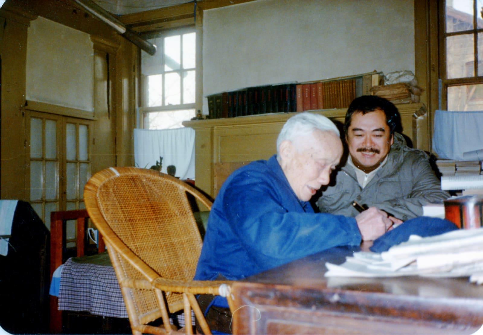 Dec 1980, Hsiao Chin in Chu Kuan-qian's home in Beijing 1980年12月蕭勤攝於北京朱光潛家中