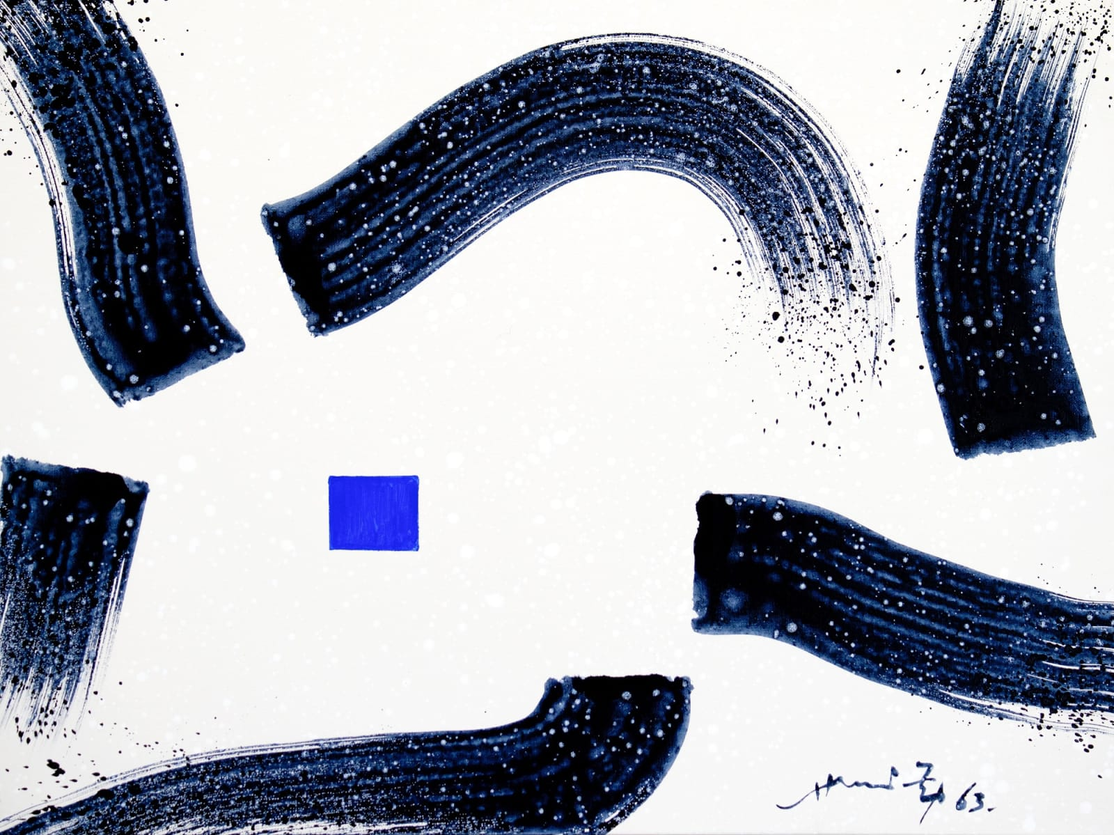 Hsiao Chin Movement-2, 1963 Acrylic on canvas 60 x 80 cm