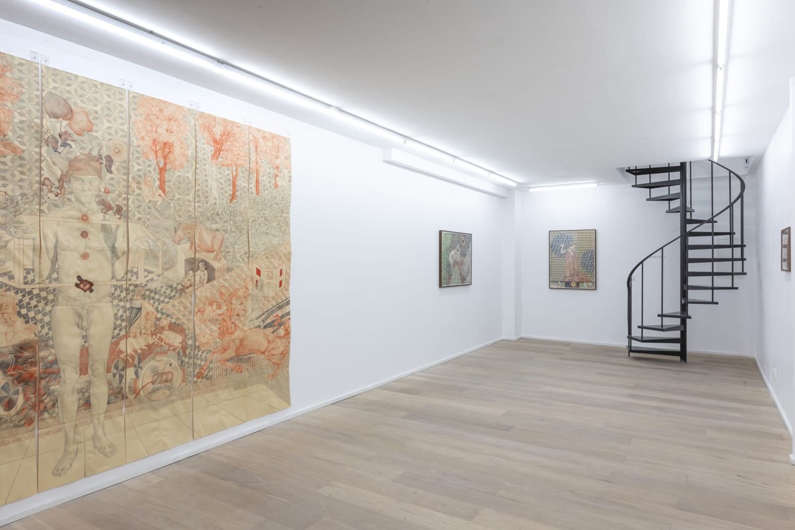 Installation view Solo Show The Great God Pan by Peter Depelchin at Husk Gallery