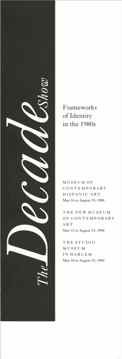 Pamphlet Cover, The Decade Show: Frameworks of Identity in the 1980s, 1990