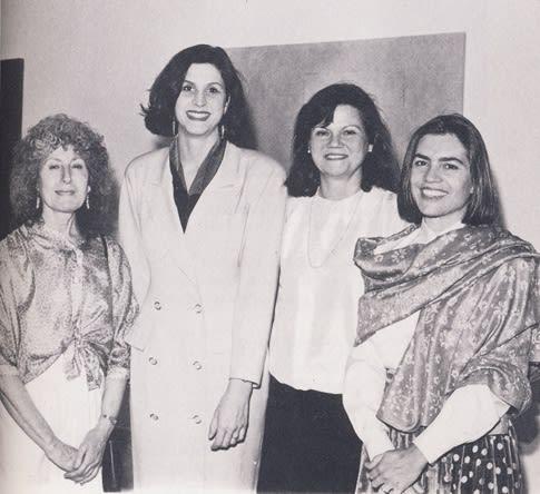 From left to right: Raquel Rabinovich, Fatima Bercht, Alicia Creus, and Francisca Sutil, 1990. Image courtesy of the Americas Society