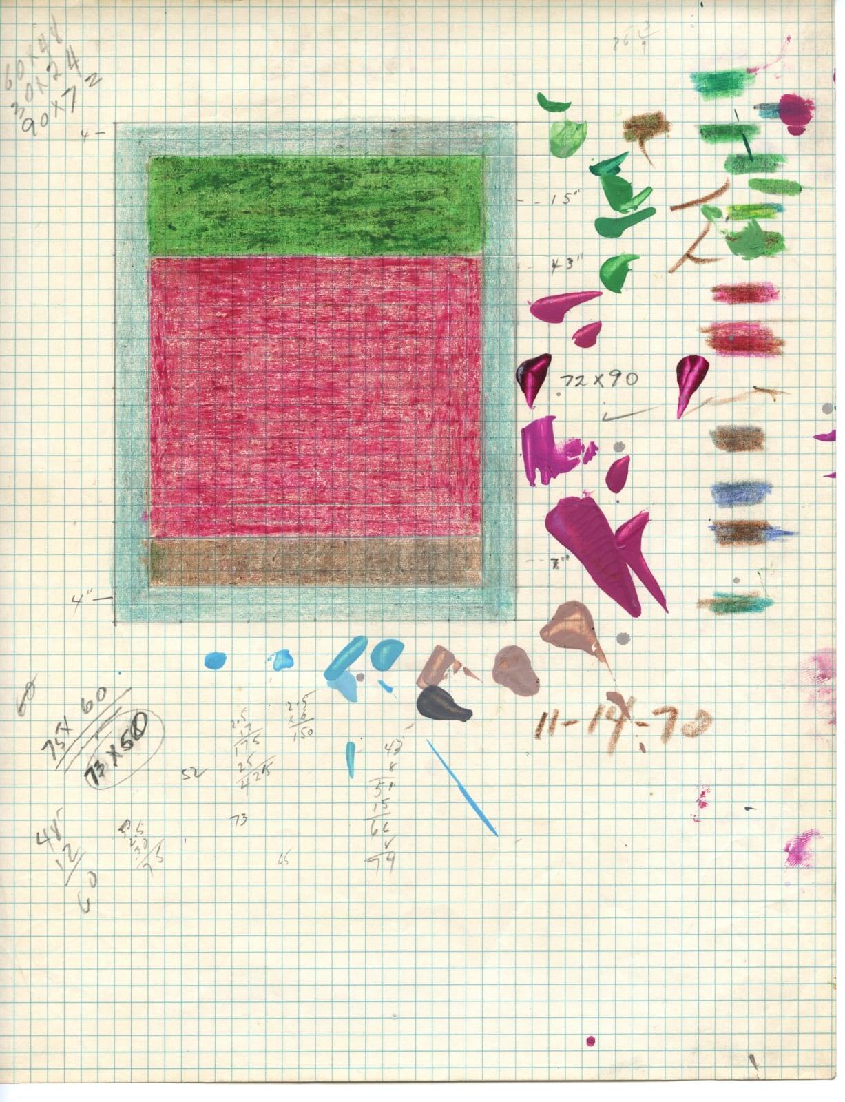 Freddy Rodríguez, Untitled (Preparatory Sketch), 1970