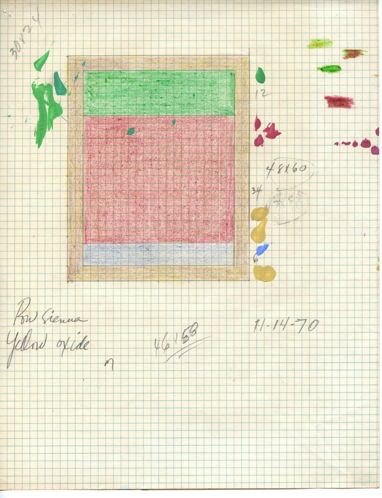 Freddy Rodríguez, Untitled (Preparatory Sketch), 1970
