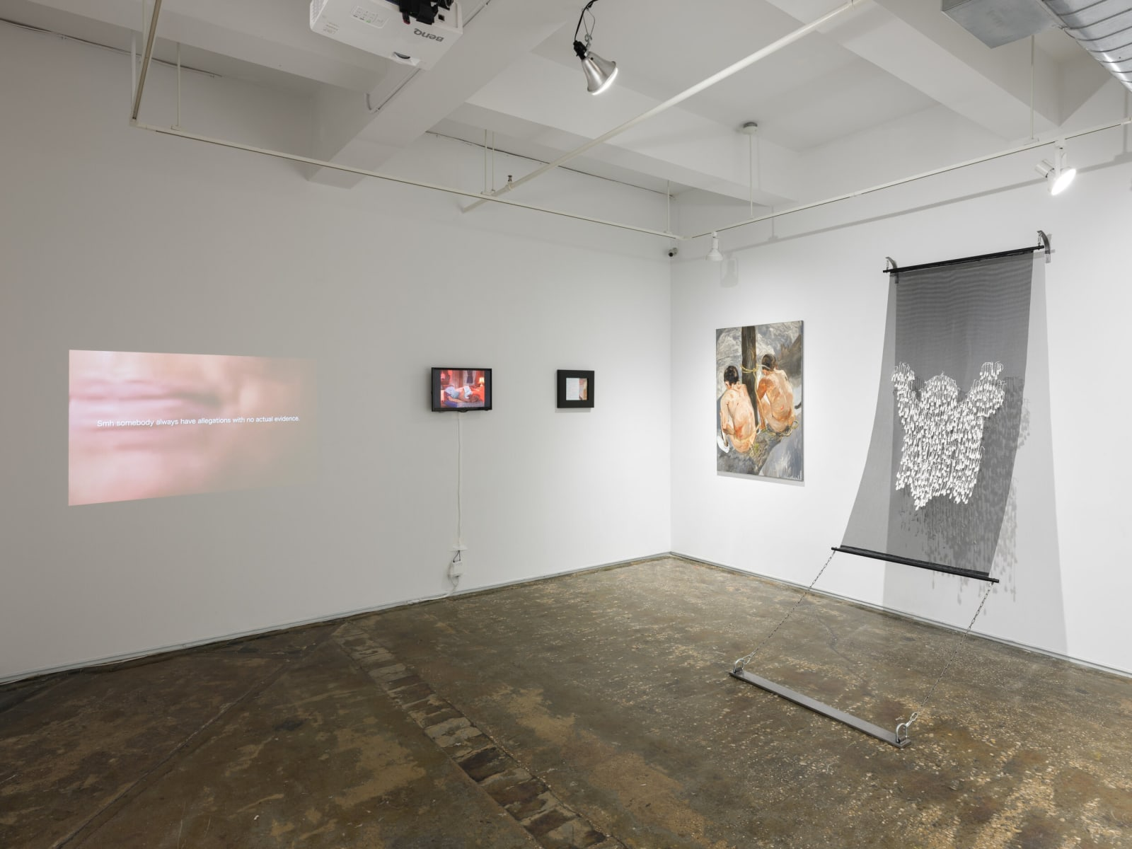 Installation view of CURRENTS: An Overwhelming Response at A.I.R. Gallery, New York January 10 - February 9, 2020 Photo courtesy of A.I.R. Gallery