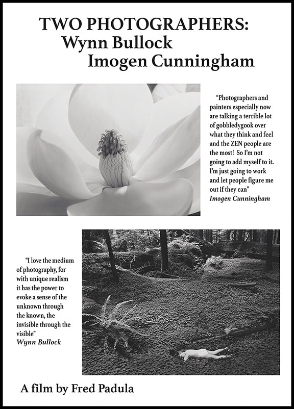 DVD - Two Photographers: Wynn Bullock, Imogen Cunningham, A film by Fred Padula