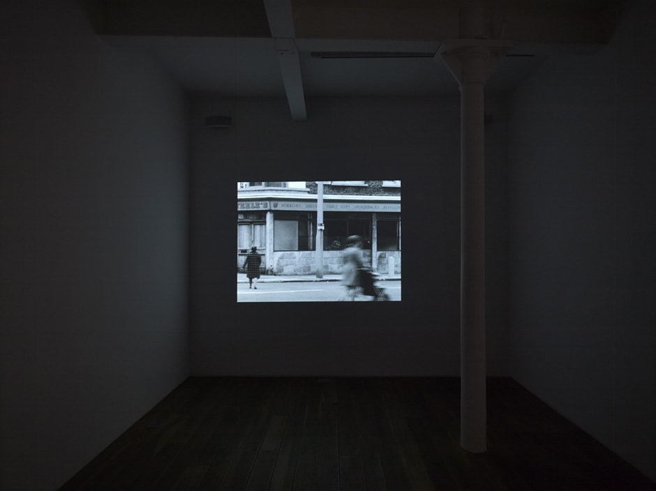 Installation view of the exhibition The Girl Chewing Gum<i