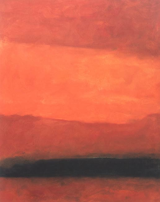 Felt Red in Sound Chester CT, 1968 oil on canvas 152 x 119 cm