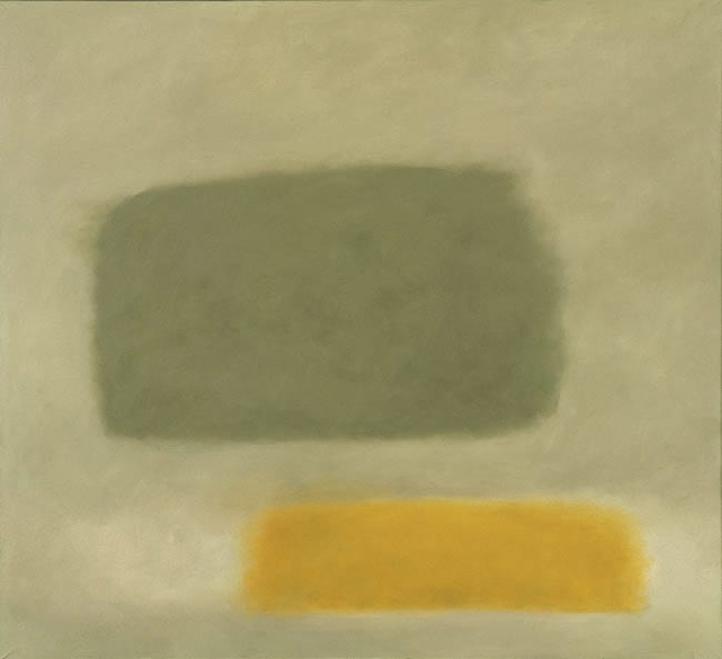 Reflection: Grey and Gold Romasaig 1972-73 oil on canvas 175 x 193 cm