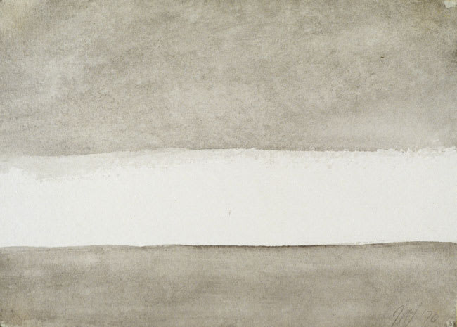 w/c 70-28 (Romasaig) 1970 watercolour on paper 5.75 x 7.75 cm