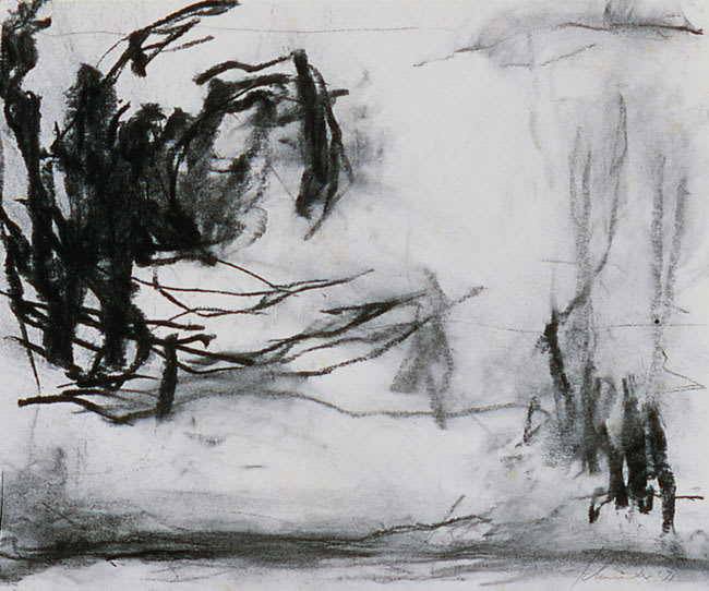 dr. 71-3 Landscape III (Romasaig) 1971 charcoal on paper 9 x 11 in