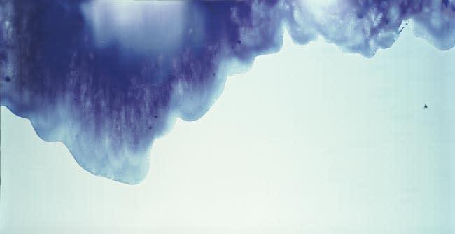 Shoreline 2003 unique photogram on Cibachrome paper 110 x 206.5 cm (framed), 101.5 x 201cm (paper size)