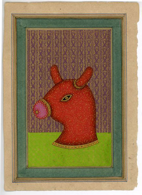 Soft Horn Idol 2007 pigment and gold on paper 11.5 x 16.5 cm paper size | Please contact the Gallery for further information