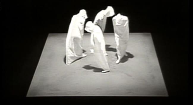 Still from 'Quad II' by Samuel Beckett (1981)