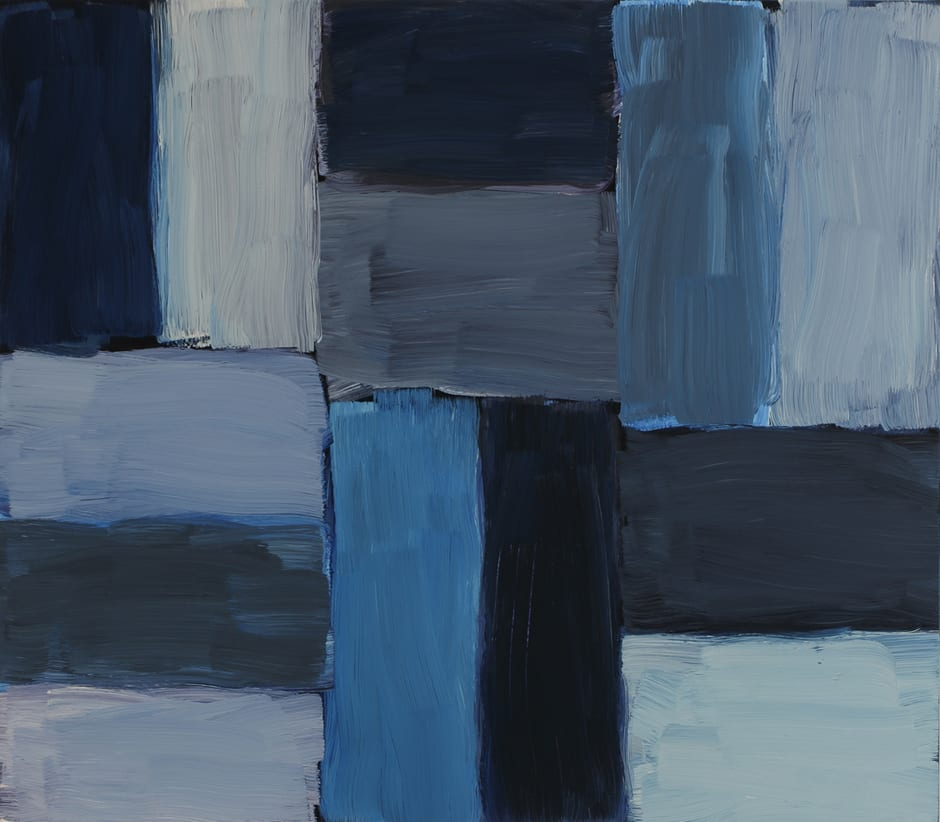 Sean Scully Untitled (Doric), 2015 oil on linen 71.1 x 81.3 cm