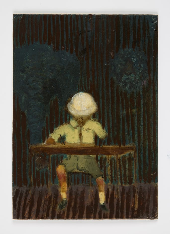 Andrew Cranston Colonial valecdictory 2014 oil on board 18 x 25 cm