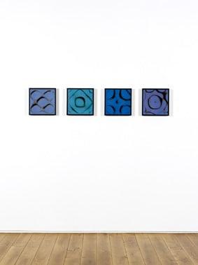 Chladni Figures 1985 unique chibchrome photograms 29.5 x 29.5 cm (print size) 32 x 32 cm (framed)