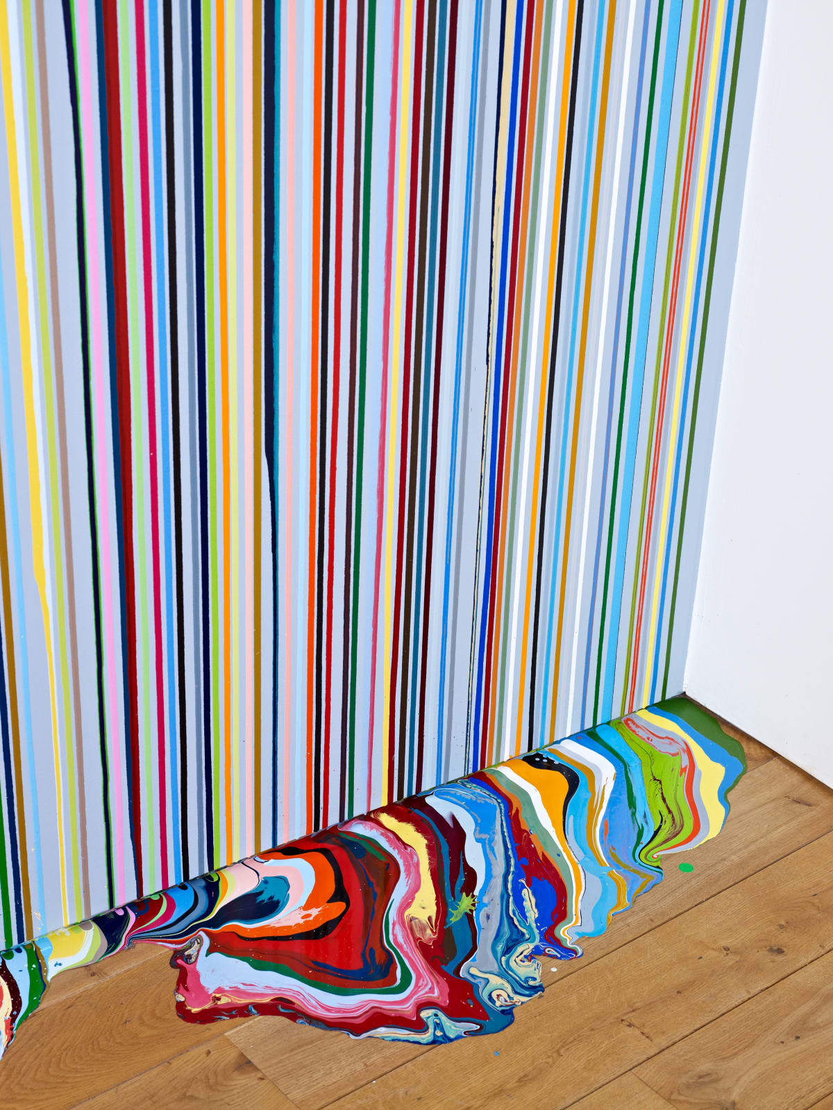 Ian Davenport Detail of Ingleby Wall Painting (after Carpaccio), 2011