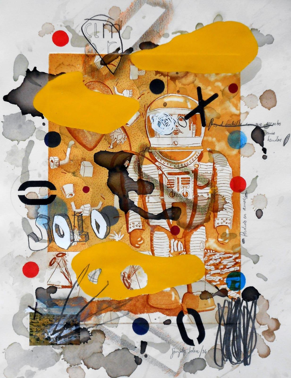 Coco González Lohse, Solo, 2001-2018. Mixed technique on paper, 55 x 35 cm.
