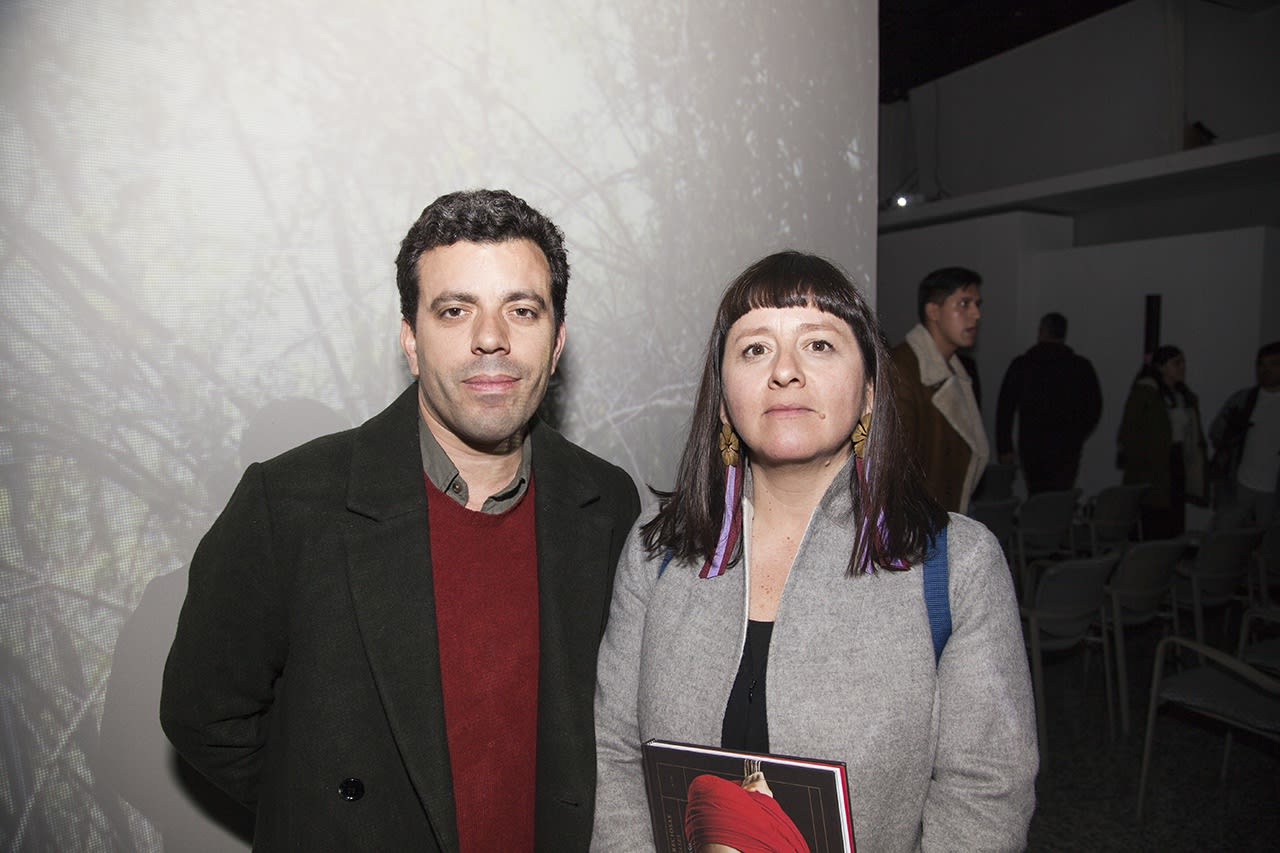Juan Pablo Vergara, co-director of Galería Weekend Santiago, and Macarena Aguilar. Photo: Cristián Aninat.