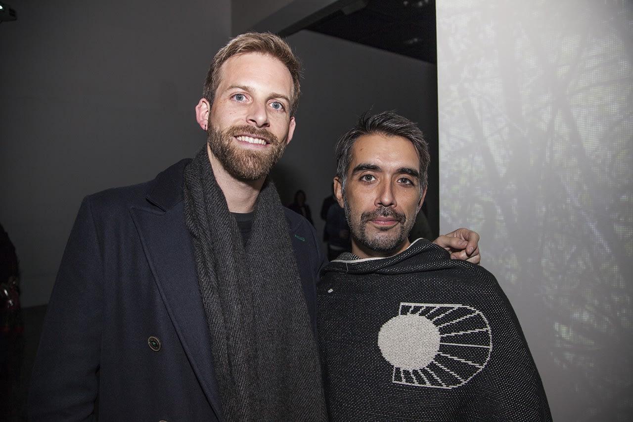 Artists Felipe Lavín and Claudio Caiozzi 'Caiozzama'. Photo: Cristián Aninat.