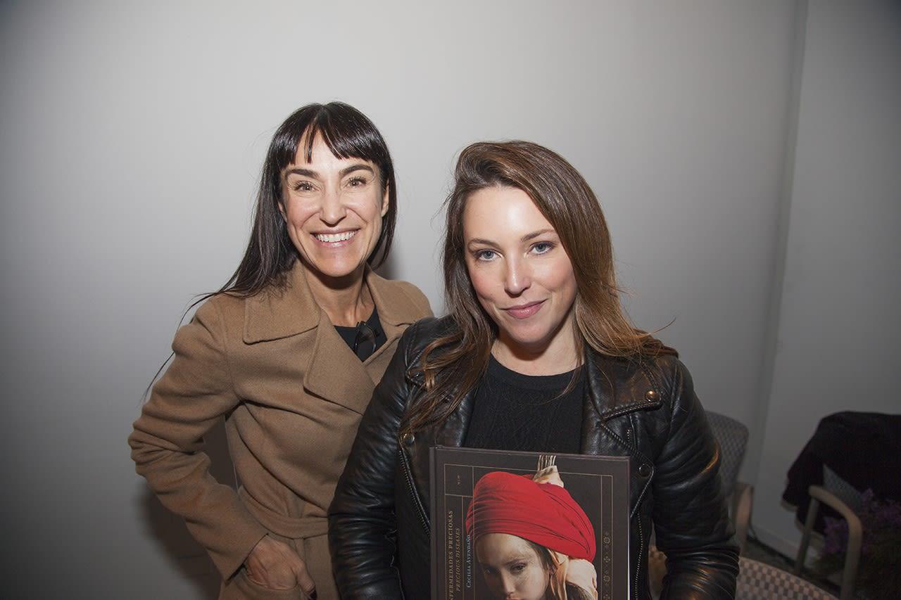 Artist Cecilia Avendaño with gallerist Isabel Croxatto (left). Photo: Cristián Aninat.