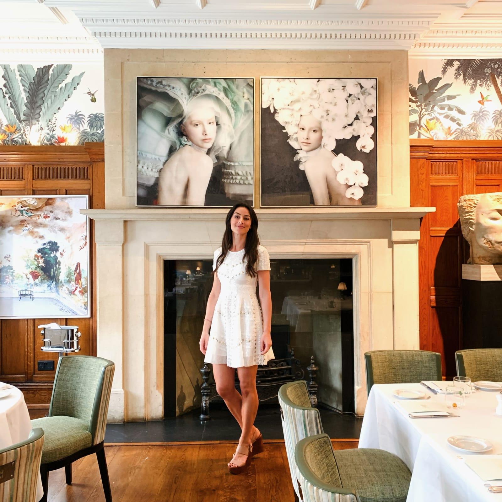 Artworks Isabelle van Zeijl on display at Brown's Hotel