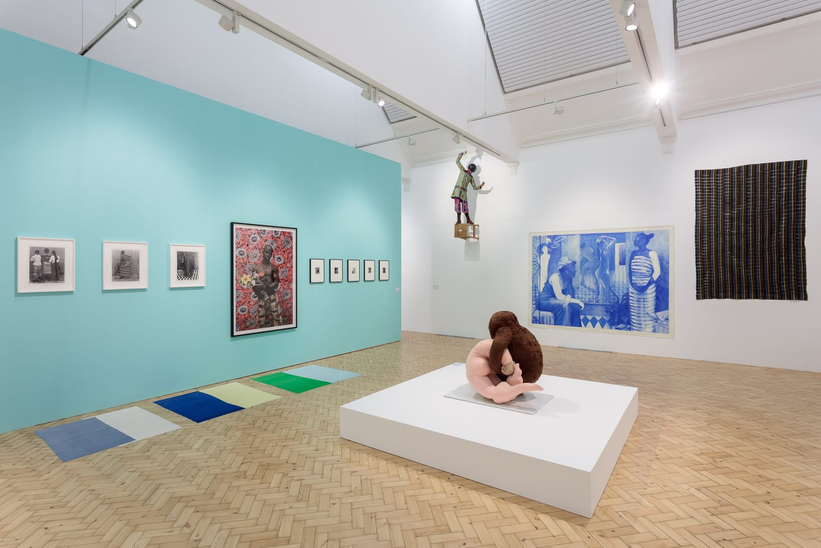 Installation view of Making & Unmaking, an exhibition curated by Duro Olowu at Camden Arts Centre 2016. Photo: Mark Blower.