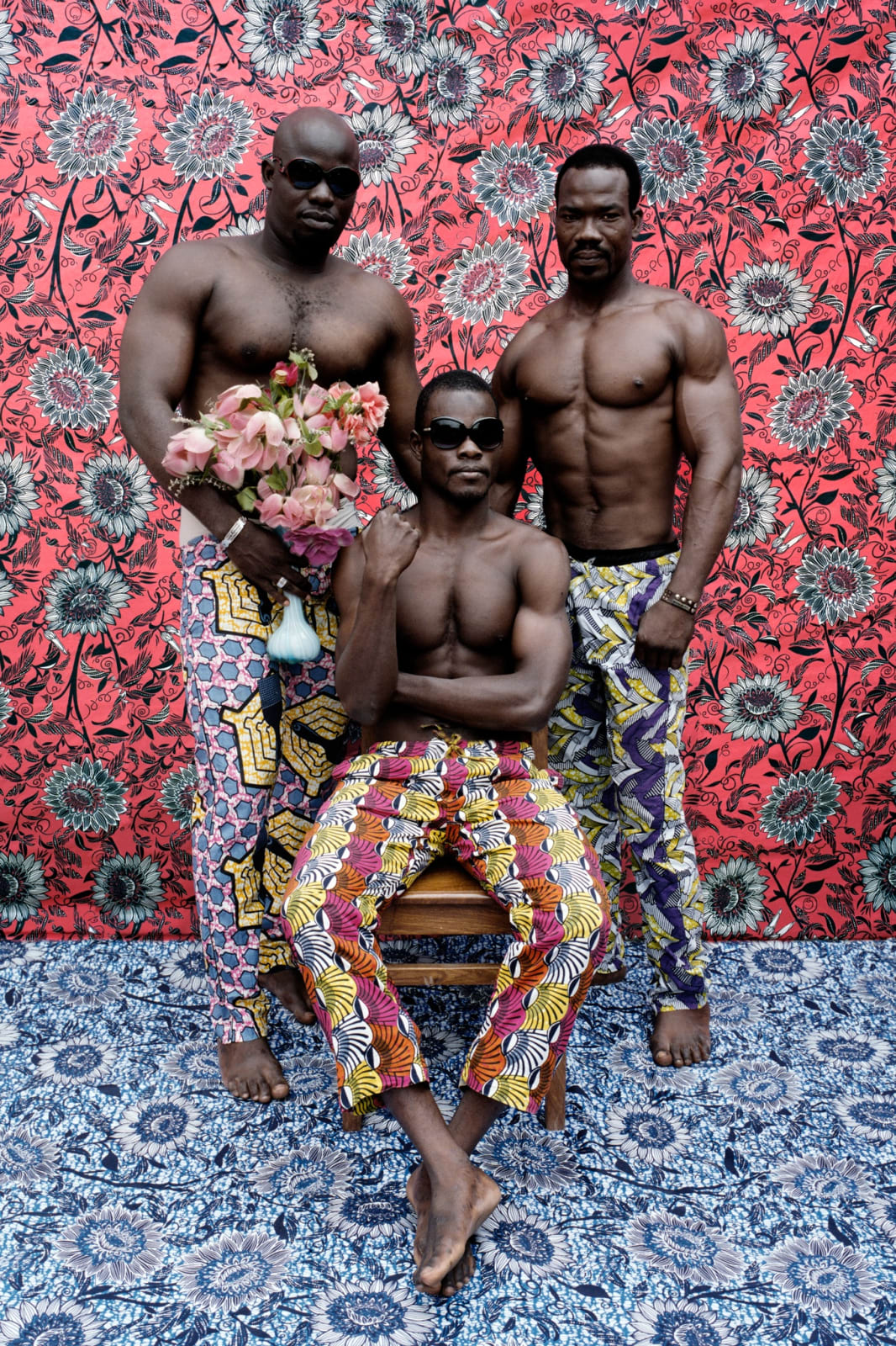 Leonce Raphael Agbodjelou, Untitled (Musclemen series), 2012, C - print