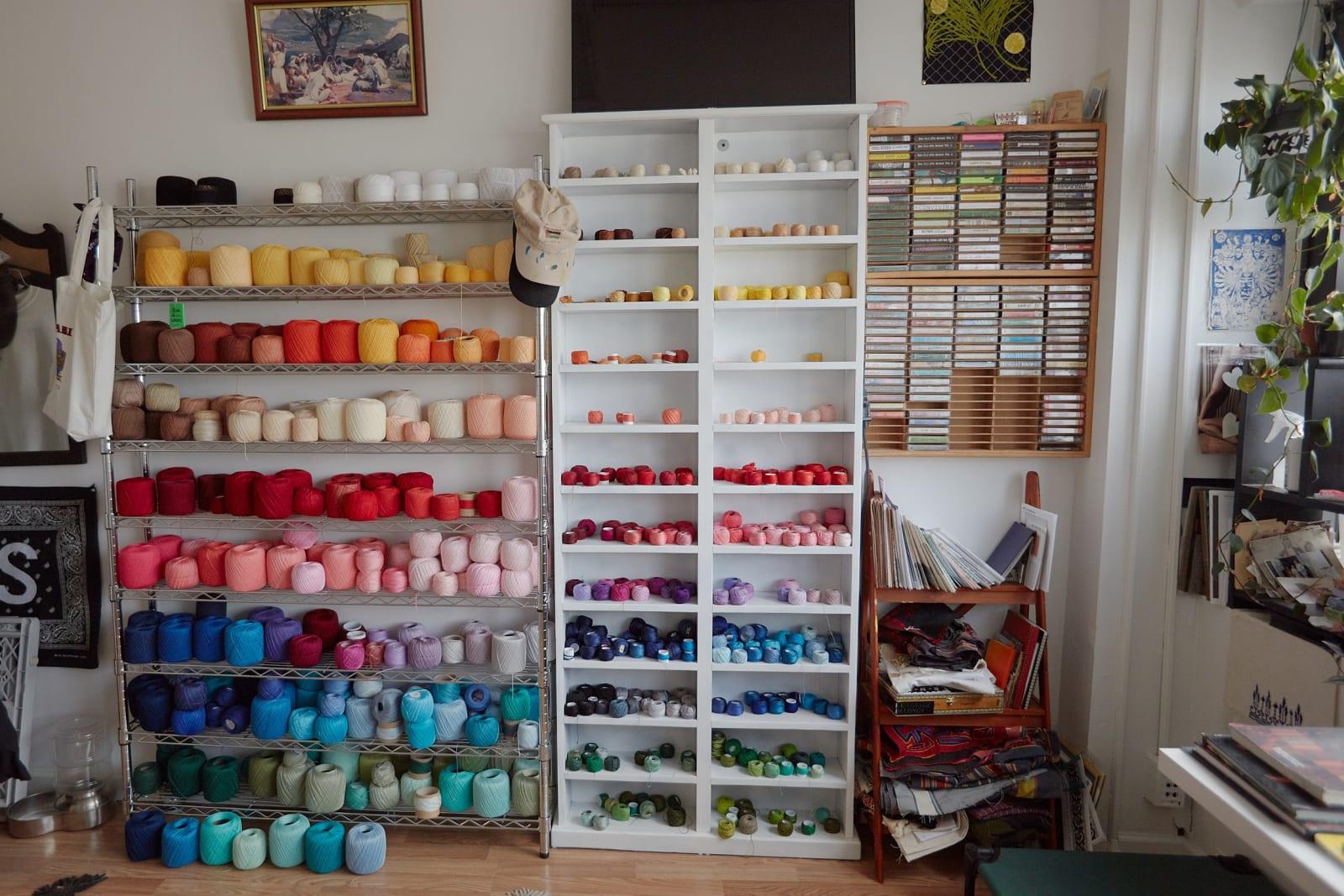 Nassar's studio, Brooklyn, NY. Photo by Roy Beeson, 2020.