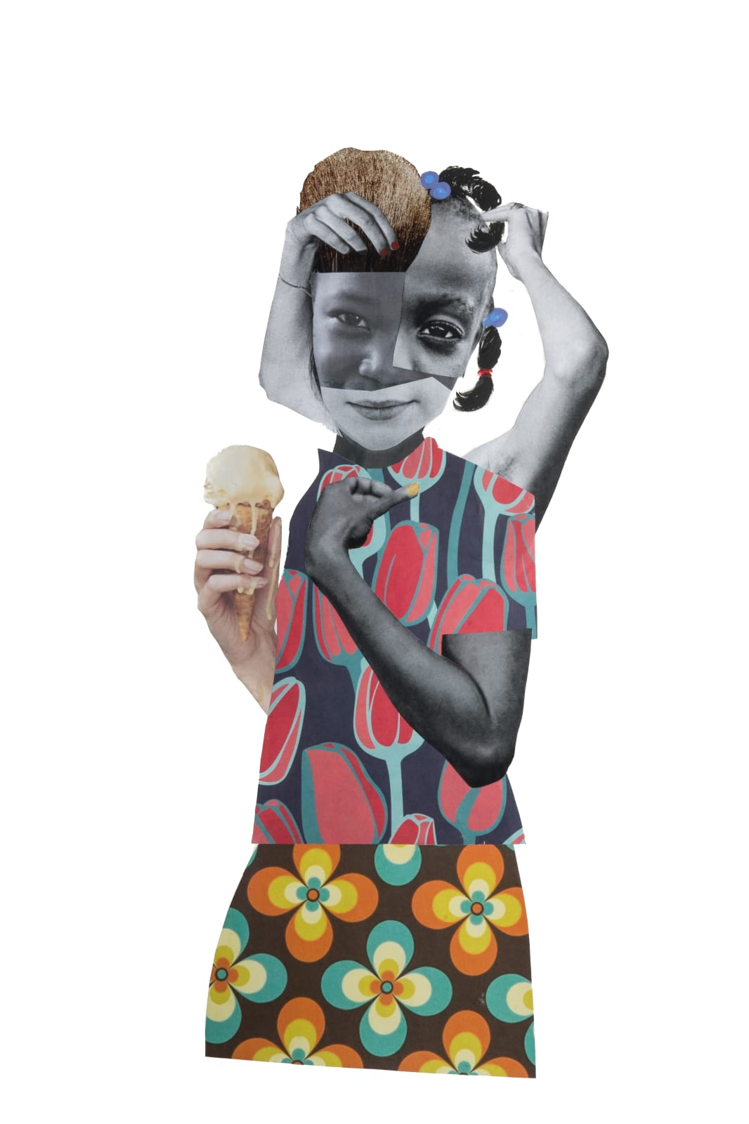 Deborah Roberts Untitled (Undiluted), 2017 mixed media on paper 30 x 22 in.