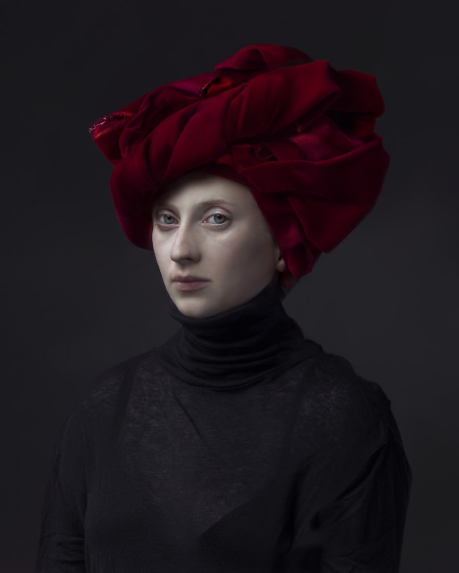 Hendrik Kerstens Red Turban, 2015 pigment print 60 x 48 inches edition of 5