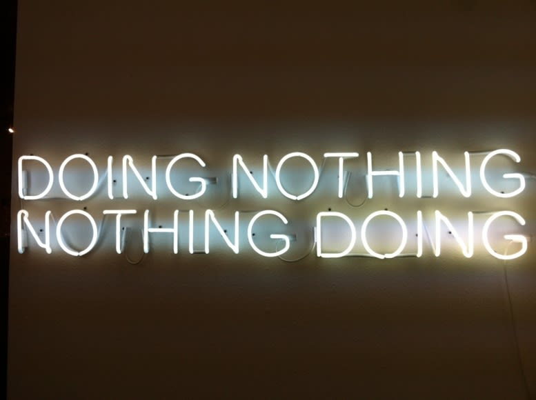 Tim Etchells Doing Nothing / Nothing Doing, 2012 neon 14 x 67 inches edition of 3