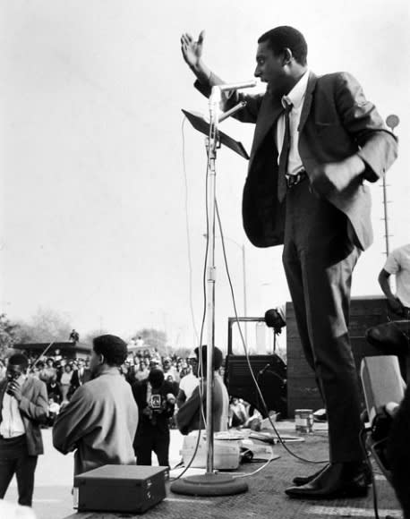 Gordon Parks Stokely Carmichael Gives Speech, Watts, California, 1967 silver gelatin print 14 x 11 inches ©The Gordon Parks Foundation. Used with permission.