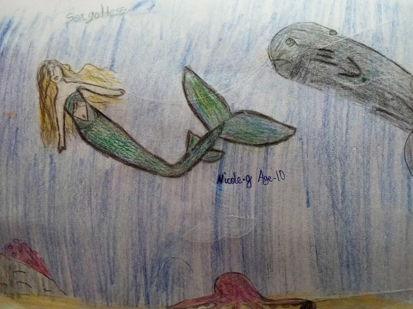 Nicole, Age 10, Sea Goddess