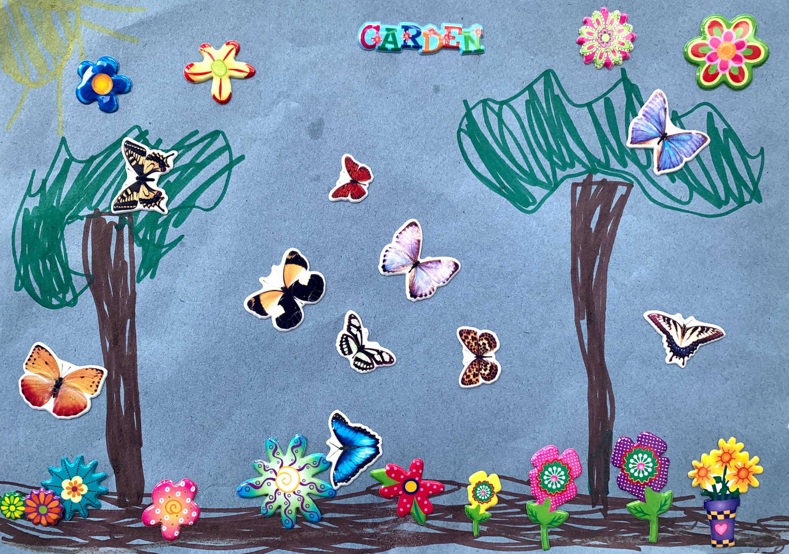 Romilly French, Age 6, Garden