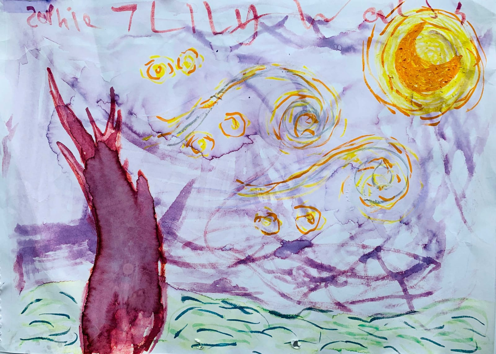 Sophie Lily Walsh, Age 7, Starry Night
