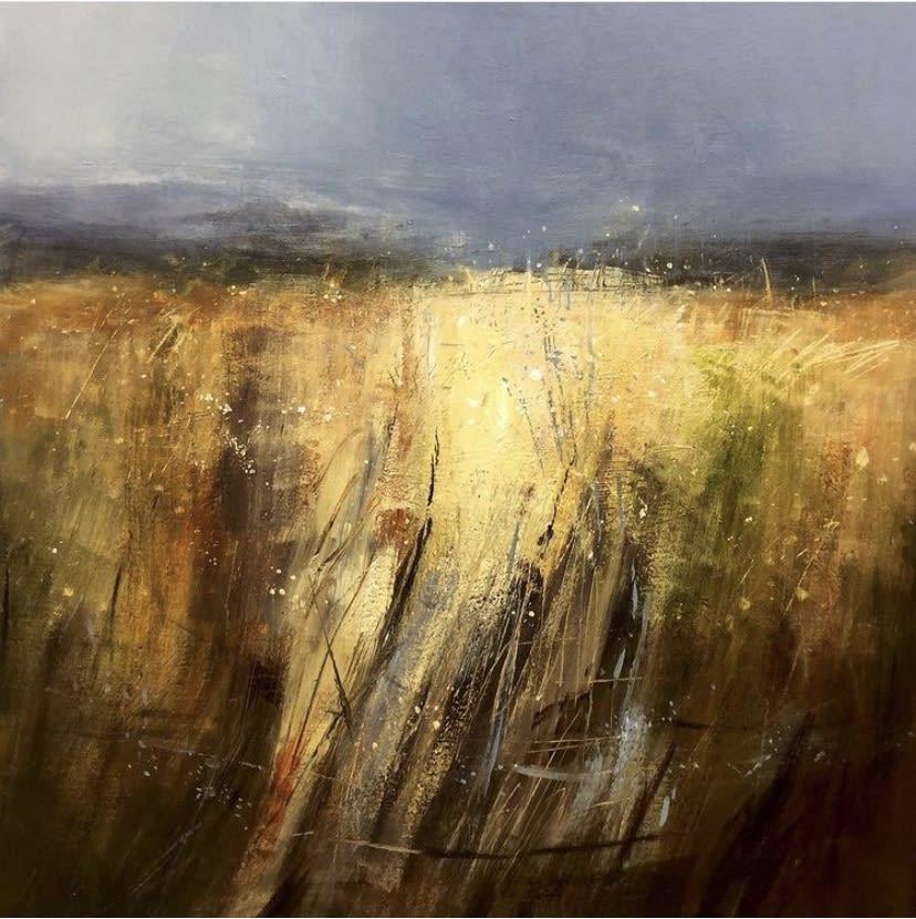 Richard Barrett Seeded grasses, Hathersage II Oils 90 x 90 cm