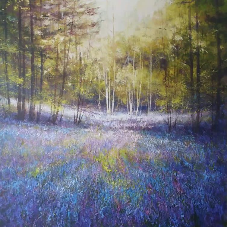 Steven McLoughlin Woodland Glade Oils 100 x 100 cm