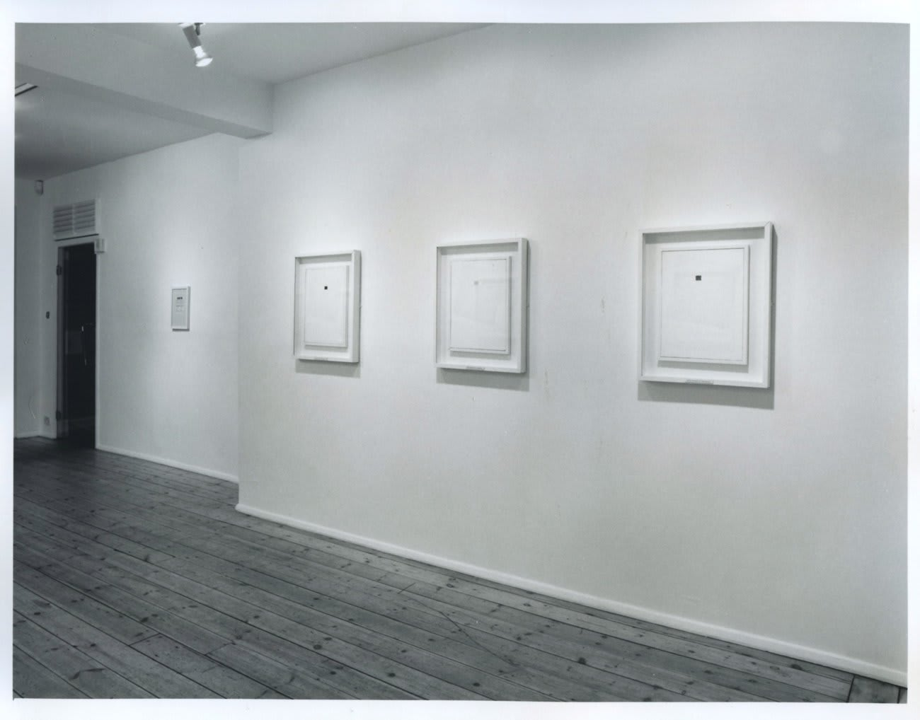 Keith Coventry: 'Suprematist Paintings 1–10', 1992, installation view, January 1993